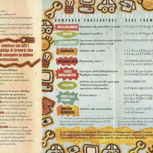 illustrazione interna per brochure, cliente: ENAIP, Reggio Emilia
