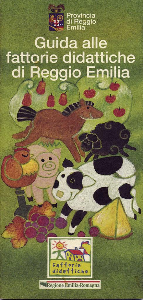 illustrazione di copertina per brochure, cliente: Fattorie didattiche, Reggio Emilia