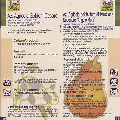 illustrazione interna per brochure, cliente: Fattorie didattiche, Reggio Emilia