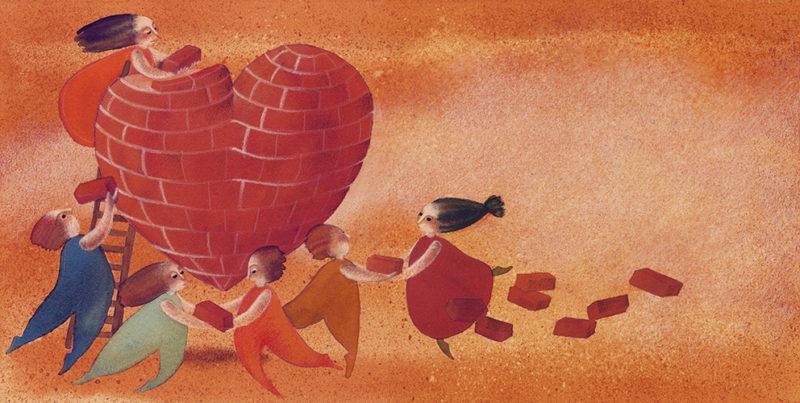 illustrazione interna per brochure, cliente: Creative, Reggio Emilia